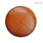 Shank Leather Button: BMJ01 L. Brown