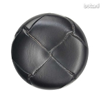 Shank Leather Button: BMJ06 Black