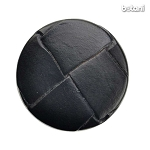 Shank Leather Button: BMJ10 Black
