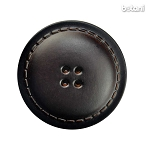 Leather Button 4 Holes: BMJ25 DK. Brown