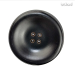 Leather Button 4 Holes: BMJ27 DK. Brown