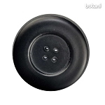 Leather Button 4 Holes: BMJ31 Black