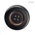 Leather Button 4 Holes: BMJ31 DK. Brown