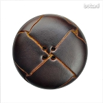 Leather Button 4 Holes: BMJ33 MD. Brown