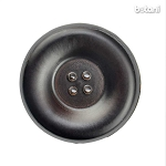 Leather Button 4 Holes: BMJ35 DK. Brown