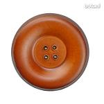 Leather Button 4 Holes: BMJ35 L. Brown