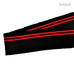 Ribbed Knit Stripe B4: Black & Red / 40