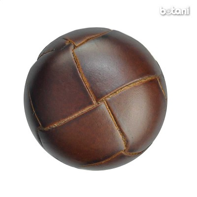 Shank Leather Button: BMJ01 MD. Brown