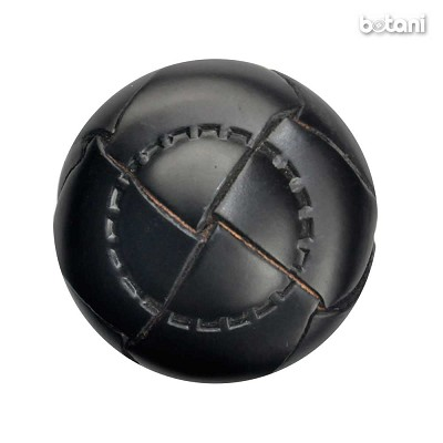 Shank Leather Button: BMJ05 Black