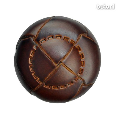 Shank Leather Button: BMJ05 MD. Brown
