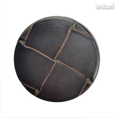 Shank Leather Button: BMJ10 DK. Brown