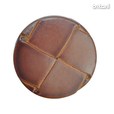 Shank Leather Button: BMJ10 L. Brown