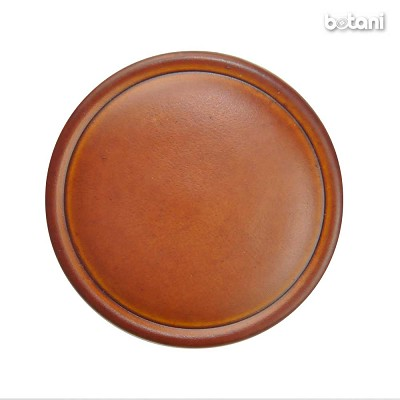 Shank Leather Button: BMJ23 L. Brown