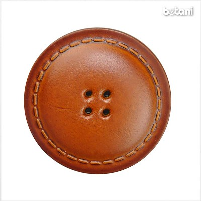 Leather Button 4 Holes BMJ25 L. Brown